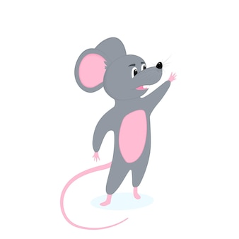 面白い漫画のネズミ。中国の旧正月のシンボル。