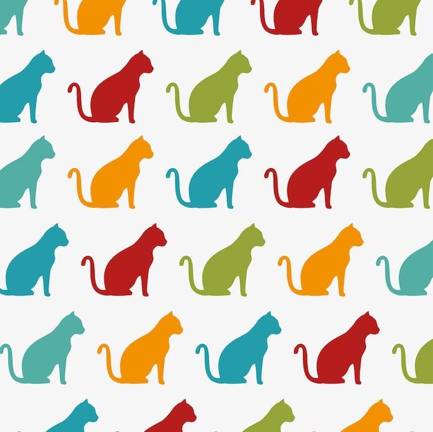 面白い猫の壁紙の色のデザイン