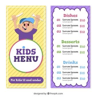 Menù divertenti per bambini