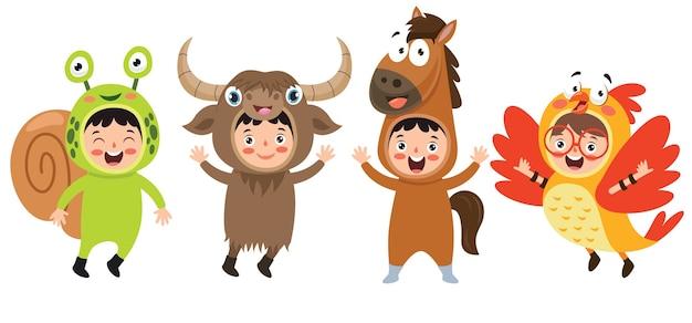 Забавные детские костюмы с животными
