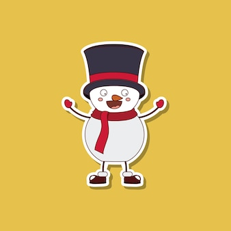 Funny Christmas character isolated icon design