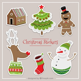 Funny christmas character labels