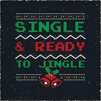 Funny christmas graphic print