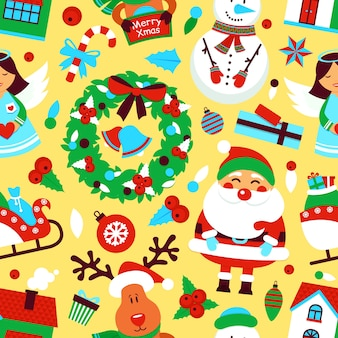 Funny christmas patter background