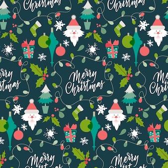 面白いクリスマスのパターンの背景