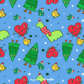 Funny christmas pattern childish style