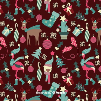 Funny christmas pattern collection