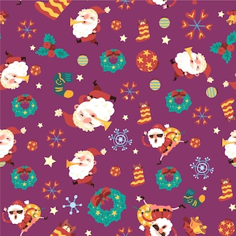 Funny christmas pattern concept