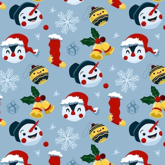 Funny christmas pattern with penguins