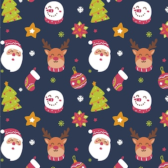 Funny christmas pattern
