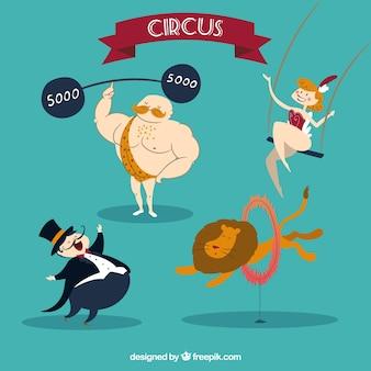 Забавные персонажи цирка