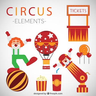 Funny circus elements pack