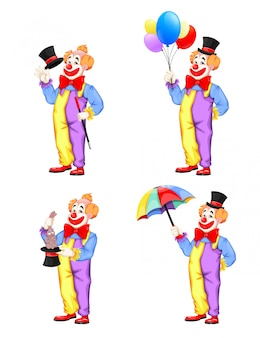 Funny clown. magician show, circus.