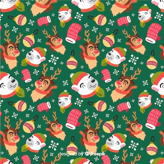 Funny colorful christmas pattern