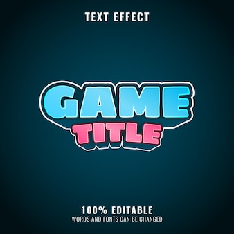 Funny colorful game title text effect perfect for your game logo and title