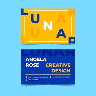Funny colorful graphic designer business card template