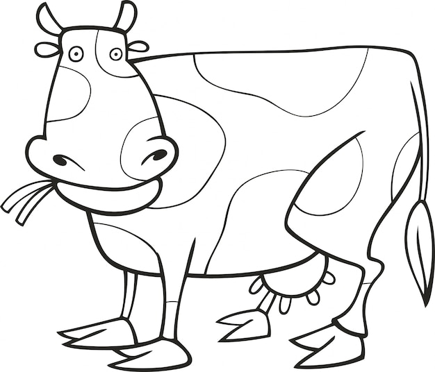 Funny cow for coloring book