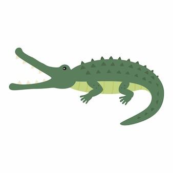 Забавный крокодил. векторные иллюстрации, изолированные на белом фоне. eps10