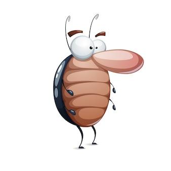Забавный милый мультяшный таракан