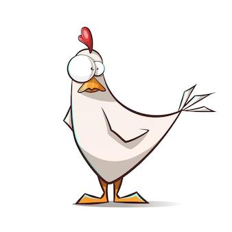 Funny, cute cartoon hen characters