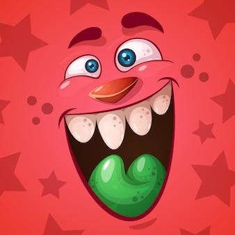 Funny, cute crazy pumpkin character