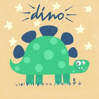 Funny cute dino