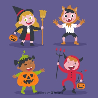 Funny and cute halloween costume children set