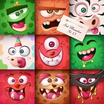 Funny, cute monster character. halloween illustration. for printing on t-shirts