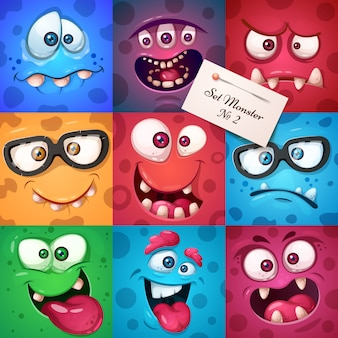 Funny cute monster character