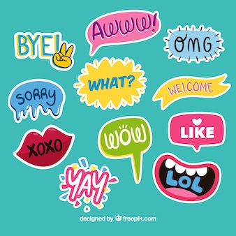 Funny decorative stickers