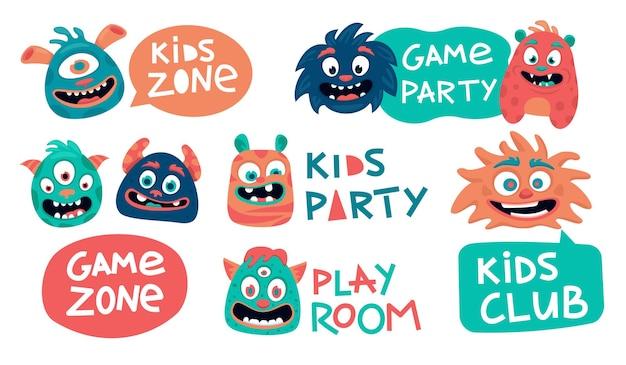 Funny design of the children's zone