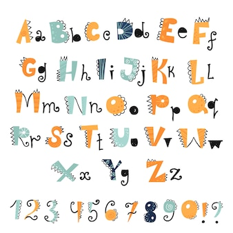 Funny dino alphabet and numbers