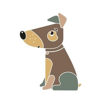 Смешная собака символ китайского нового года 2018.