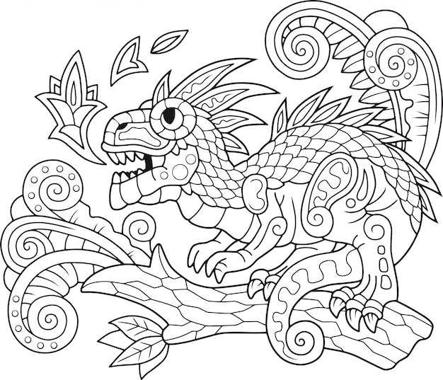 Забавный дракон