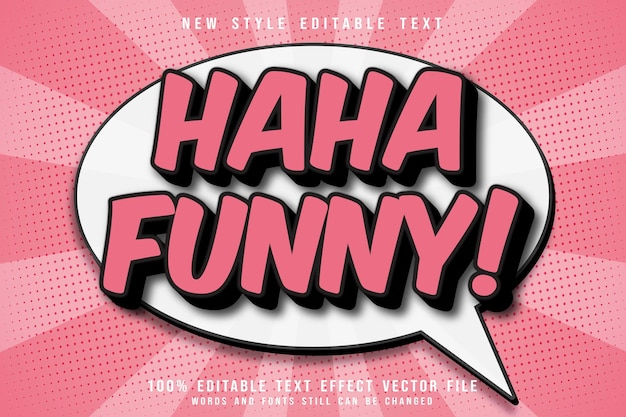 Funny editable text effect emboss comic style
