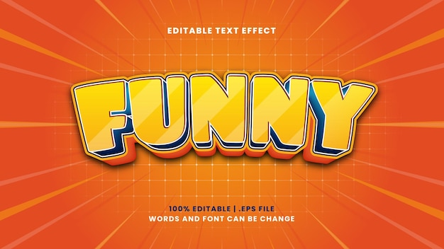 Funny editable text effect in modern 3d style