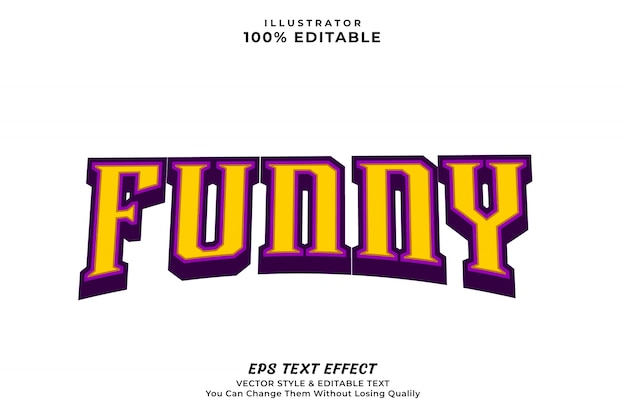 Funny editable text effect style, editable font premium