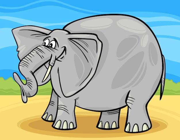 面白い象の漫画のイラスト
