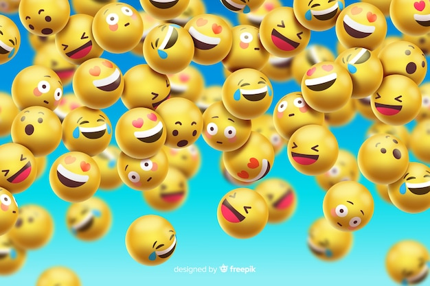Funny emoticons background design