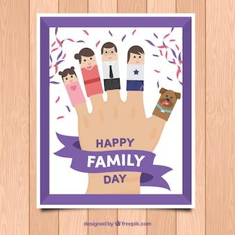 문자로 손의 재미있는 가족의 날 인사말