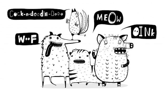 Funny farm domestic animals talking