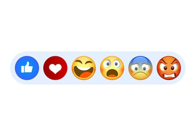 Funny flat style emoji on the white background. vector illustration