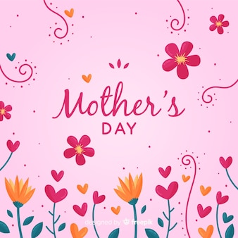 Funny floral mother's day background