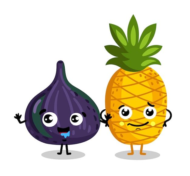 面白いフルーツ分離漫画のキャラクター