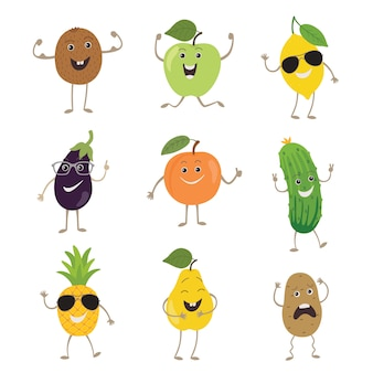 Funny fruits and vegetables