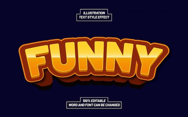 Эффект стиля текста забавной игры