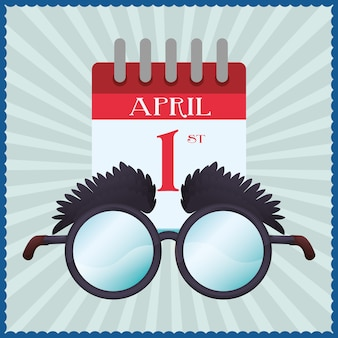 Funny glasses calendar april fools