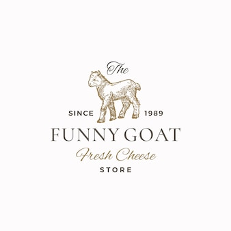 The funny goat abstract sign, symbol or logo