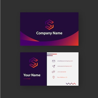 Funny gradient business card