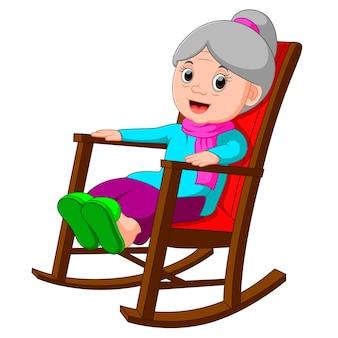 Funny grandmother